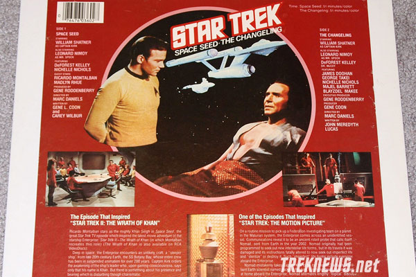 Star Trek CED Back Cover