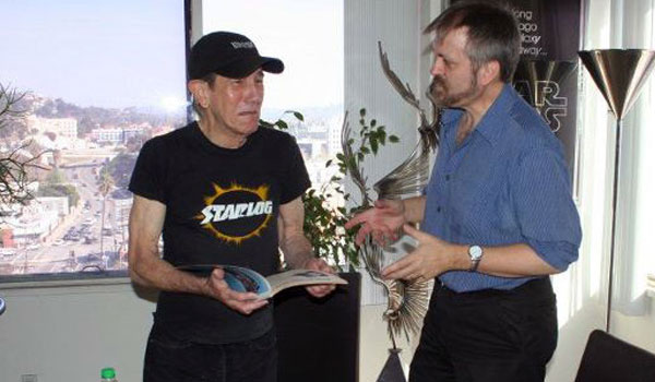 Starlog founder & Con of Wrath emcee Kerry O'Quinn with Larry Nemecek