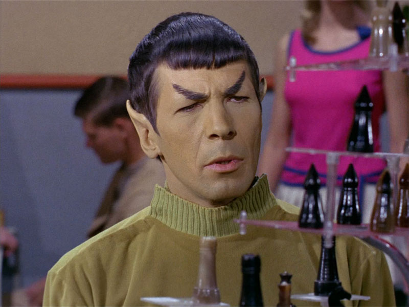 Spock plays 3D chess