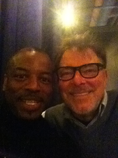 LeVar Burton and Jonathan Frakes at the Calgary Expo