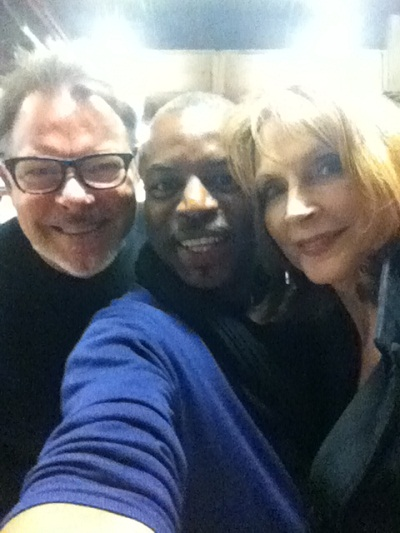 Jonathan Frakes, LeVar Burton and Gates McFadden at the Calgary Expo