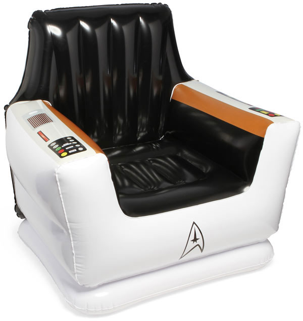 ThinkGeek's Inflatable Captain's Chair