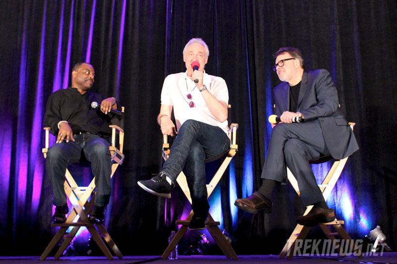 LeVar Burton, Brent Spiner and Jonathan Frakes