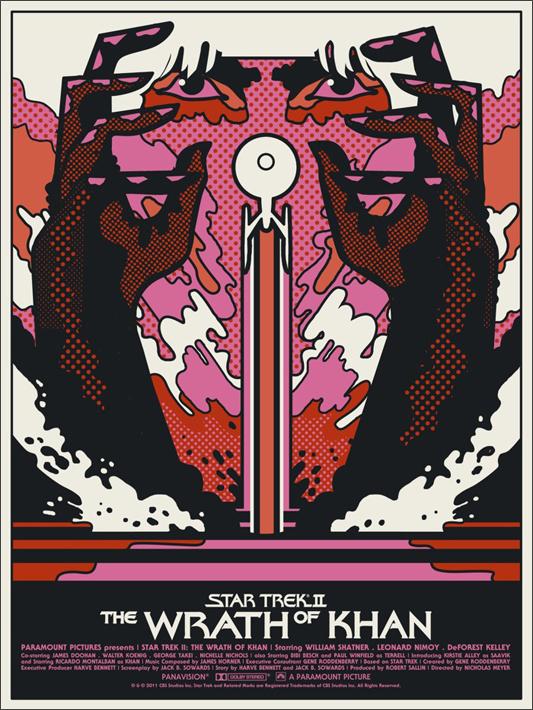 Star Trek: The Wrath of Khan poster from Mondo
