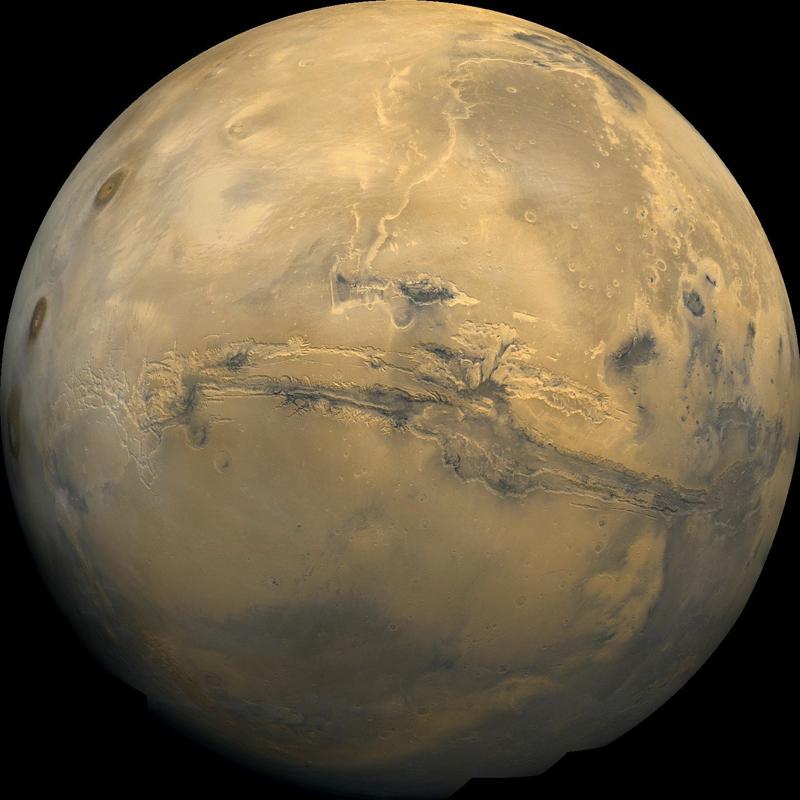 Mars with Valles Marineris