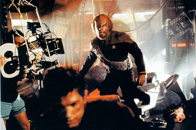 Dorn filming Star Trek: First Contact