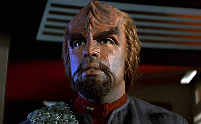 Michael Dorn as Worf in Star Trek: First Contact