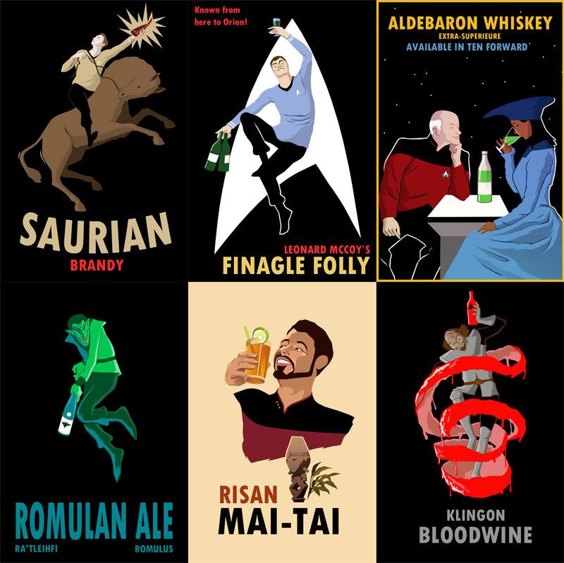 Star Trek Liquor Posters from Dangerous Days