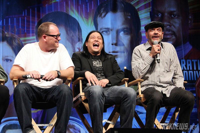 Robert Duncan McNeill, Garrett Wang and Robert Picardo