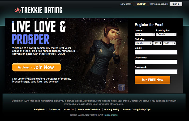 Trekkie Dating Site