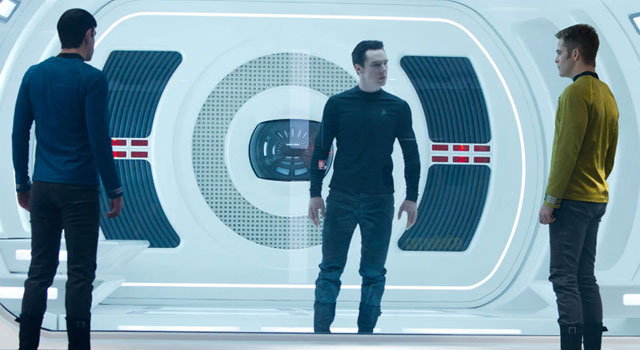 """New """"Into Darkness"""" Photo Shows Kirk and Spock Face Off Against Film's Villain + Possible Name Revealed"""