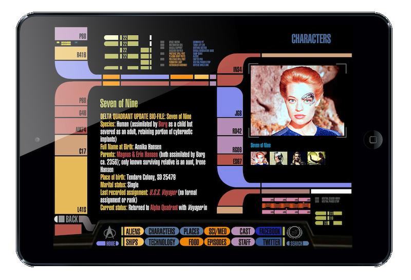 Updated version of Star Trek PADD app for iPad