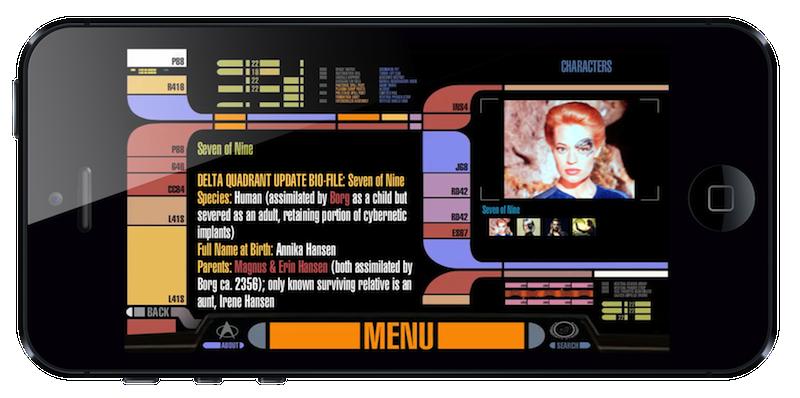 Star Trek PADD app on iPhone 5