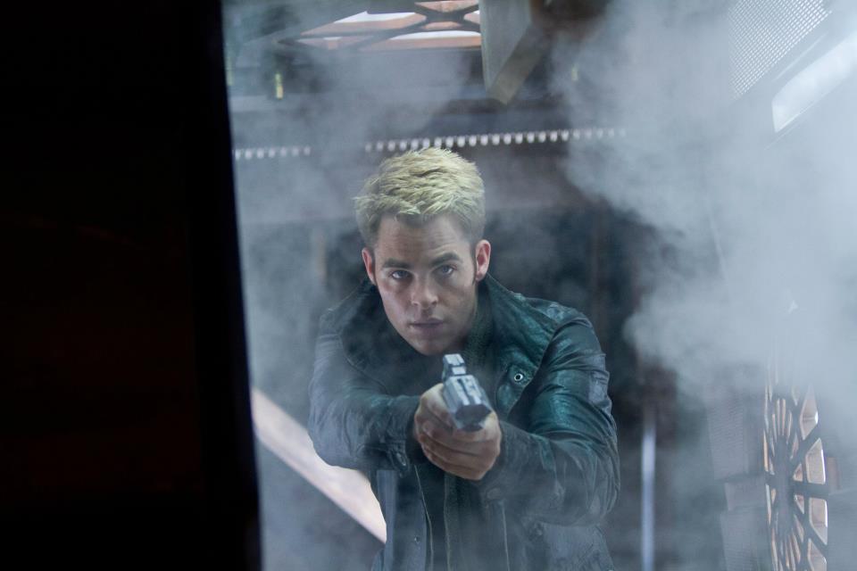Kirk wielding a phaser