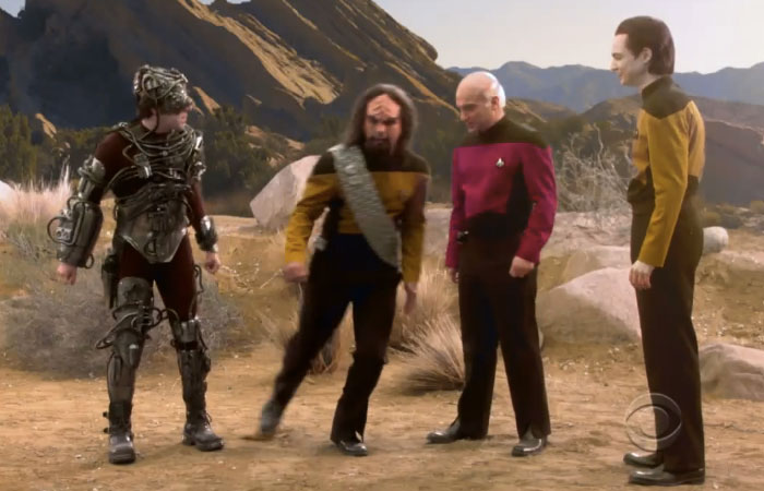 Big Bang Theory Goes Star Trek: The Next Generation