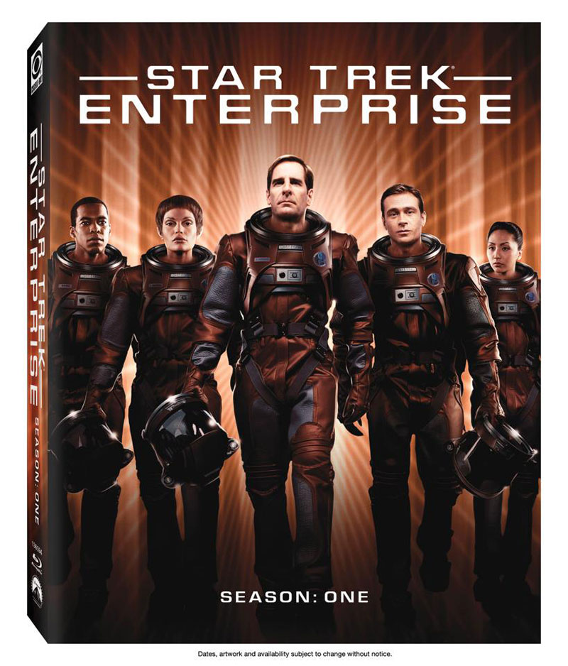 Cover art for the first-season of Star Trek: Enterprise on Blu-ray