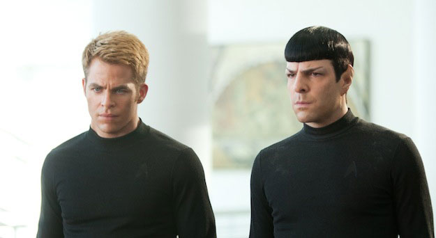 Chris Pine and Zachary Quinto as Kirk and Spock