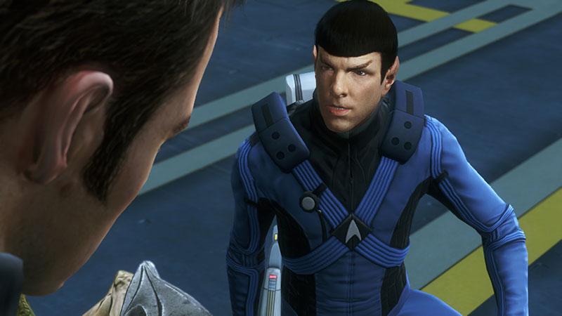 Spock speaks to Kirk