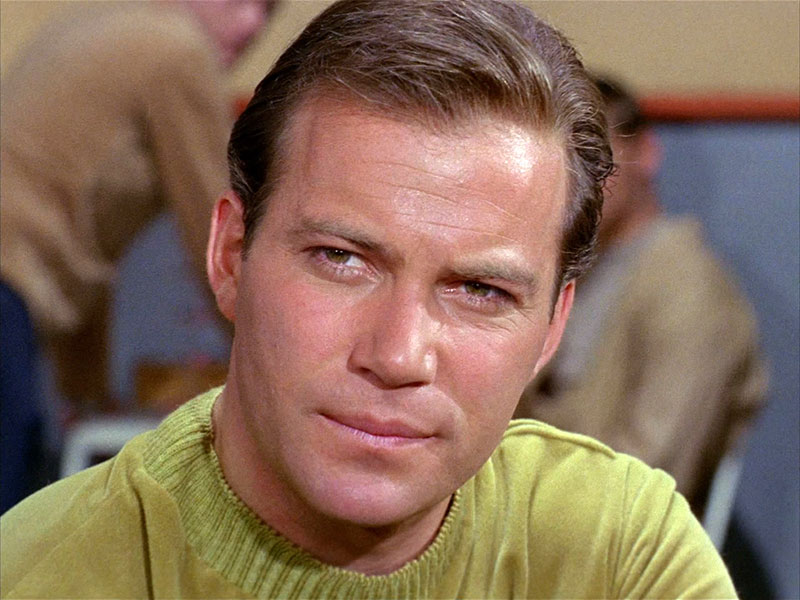 "Shatner as Kirk in ""Where No Man Has Gone Before"""