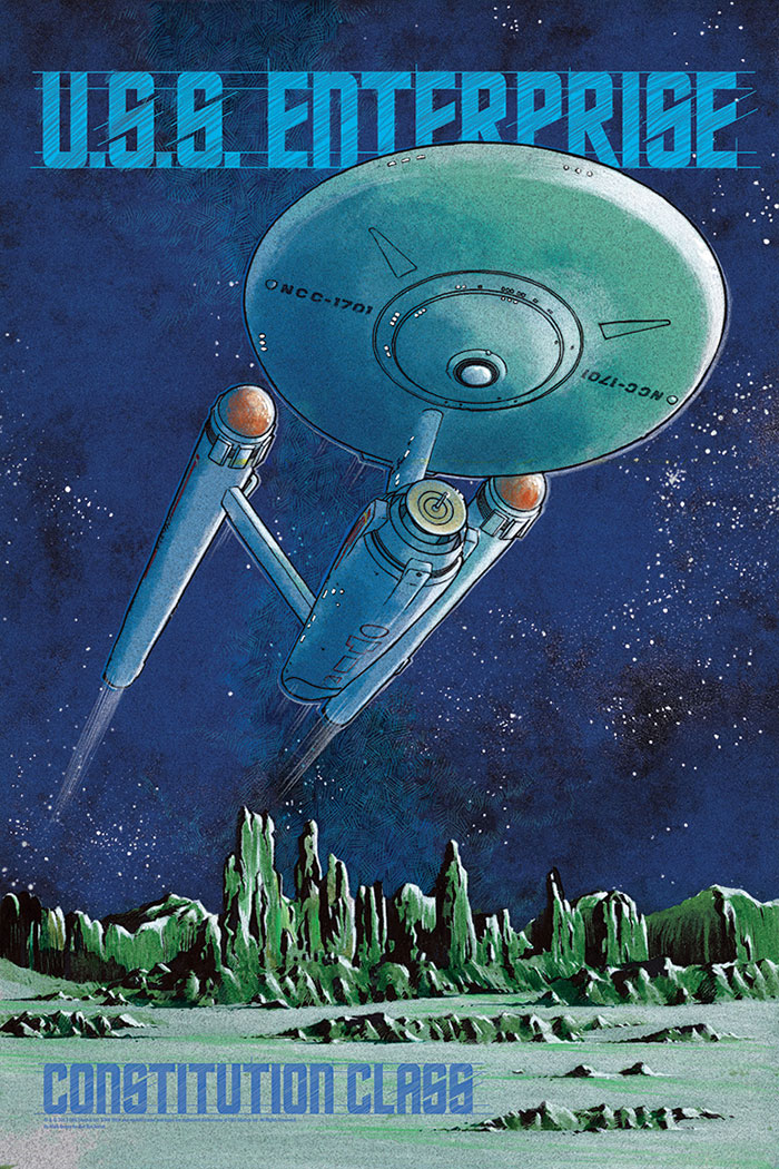 U.S.S. Enterprise by Mark Brayer