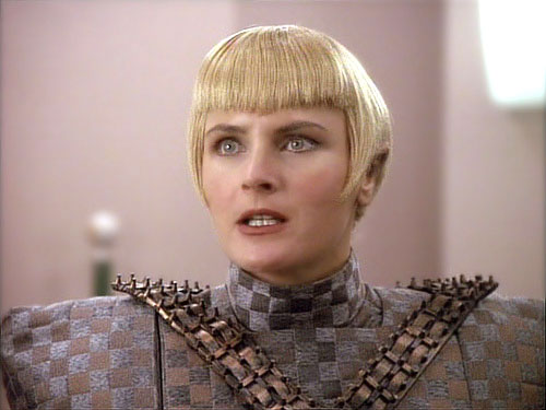 Crosby as Sela in the fourth season of TNG