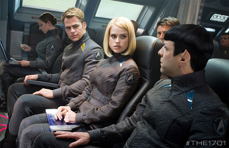 Kirk, Carol Marcus and Spock