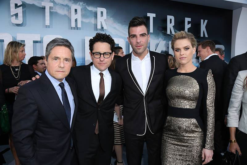 Brad Grey, J.J. Abras, Zachary Quinto and Alice Eve