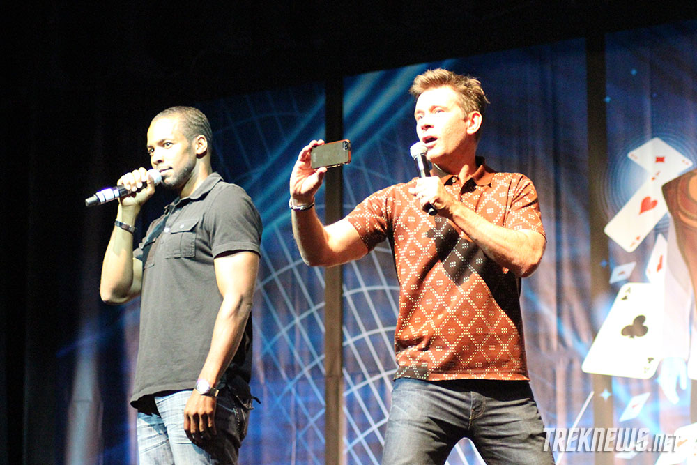 Anthony Montgomery and Connor Trinneer