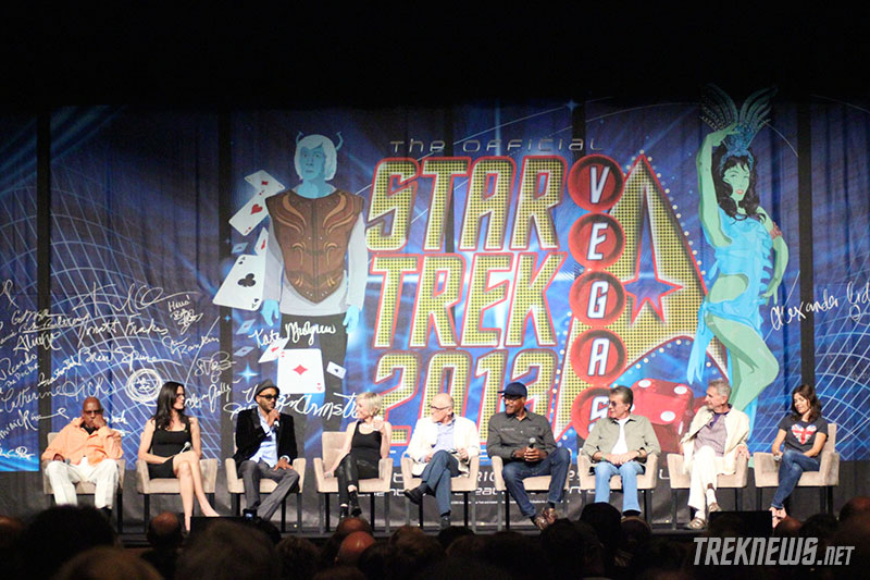 Avery Brooks, Terry Farrell, Cirroc Lofton, Nana Visitor, Armin Shimerman, Michael Dorn, James Darren, Rene Auberjonis, and Nicole de Boer