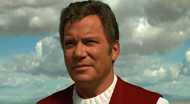 Shatner as Kirk in Star Trek: Generations