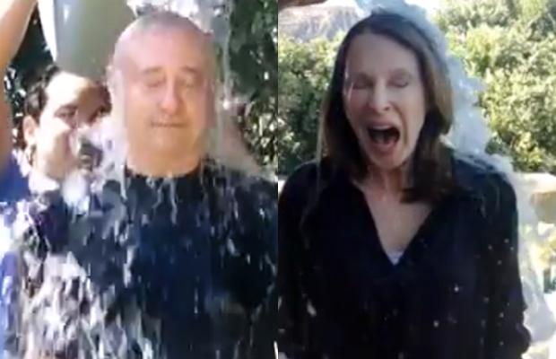 "WATCH: Brent Spiner, Gates McFadden Get Soaked In ""Ice-Bucket Challenge"""
