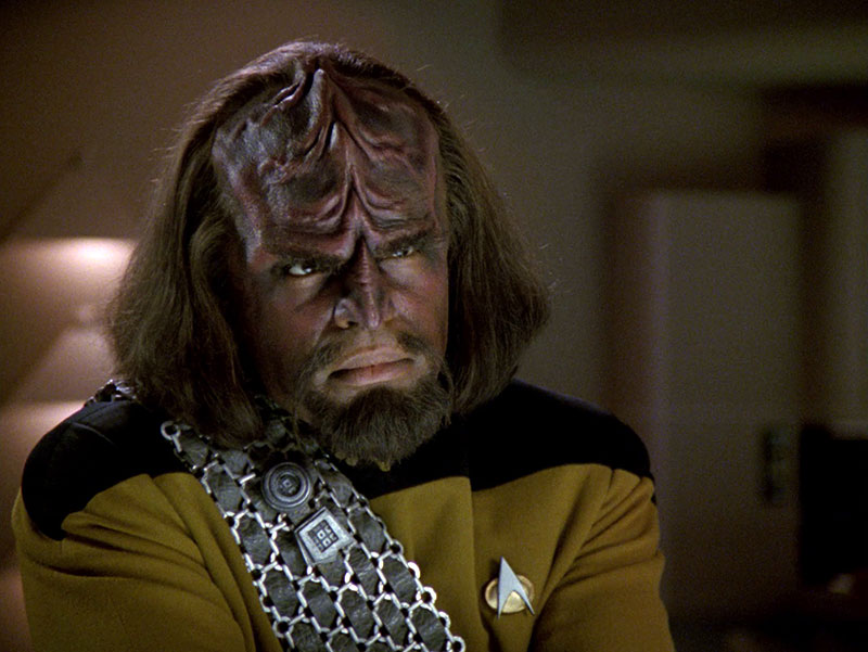 Michael Dorn as Worf on Star Trek: The Next Generation