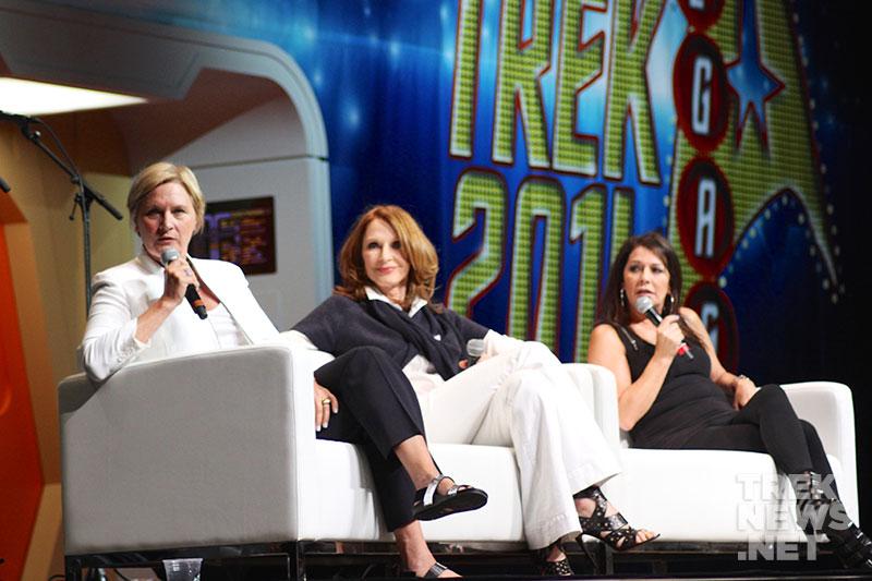 Denise Crosby, Gates McFadden and Marina Sirtis