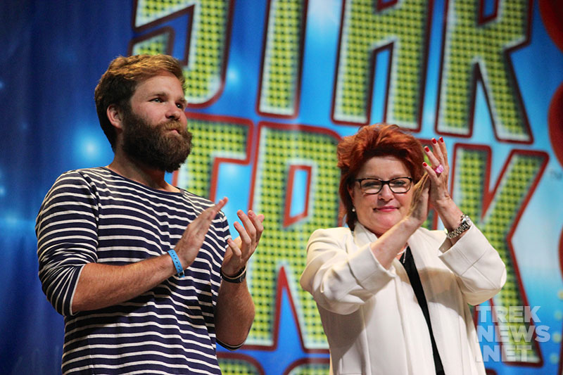 Kate Mulgrew and her son Alec Egan