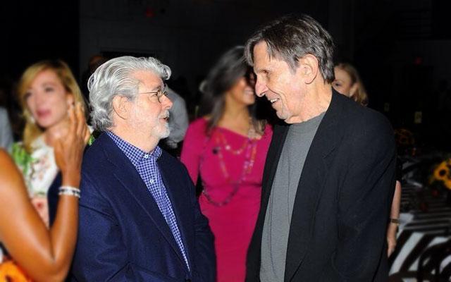 Star Trek & Star Wars Collide As Leonard Nimoy Meets George Lucas