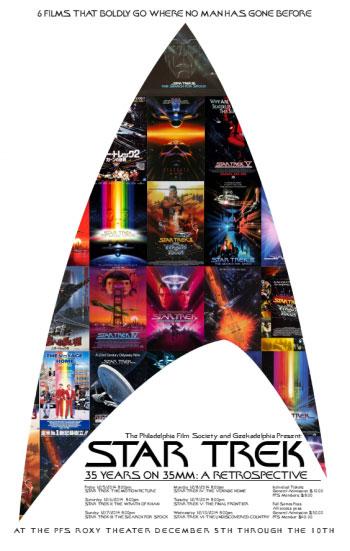 'Star Trek – 35 Years On 35MM: A Retrospective' Poster