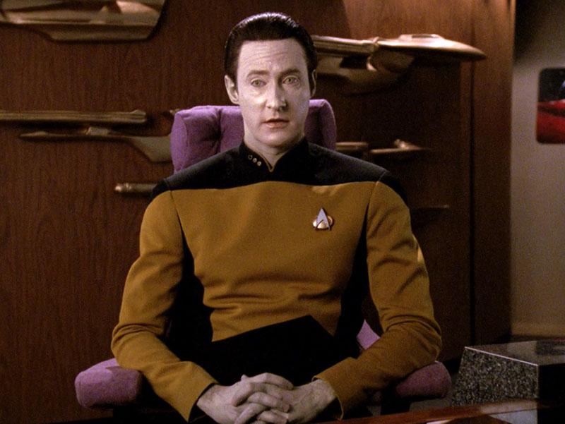 Brent Spiner as Data in 'Star Trek: The Next Generation' season 3