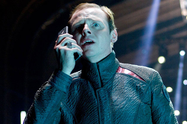 "Pegg as ""Scotty"" in 'Star Trek Into Darkness'"