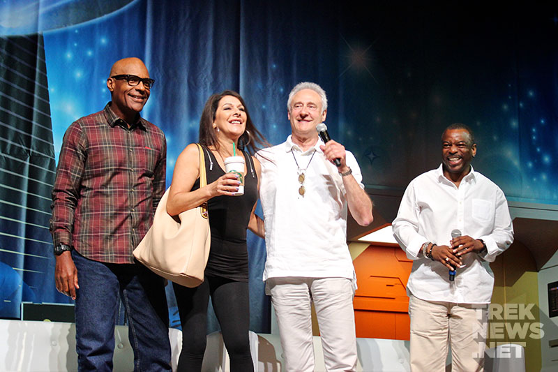 "Members of the cast of ""Star Trek: The Next Generation"" at STLV 2014"