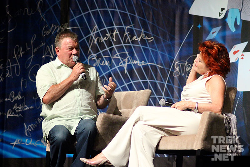 William Shatner and Kate Mulgrew at STLV 2013