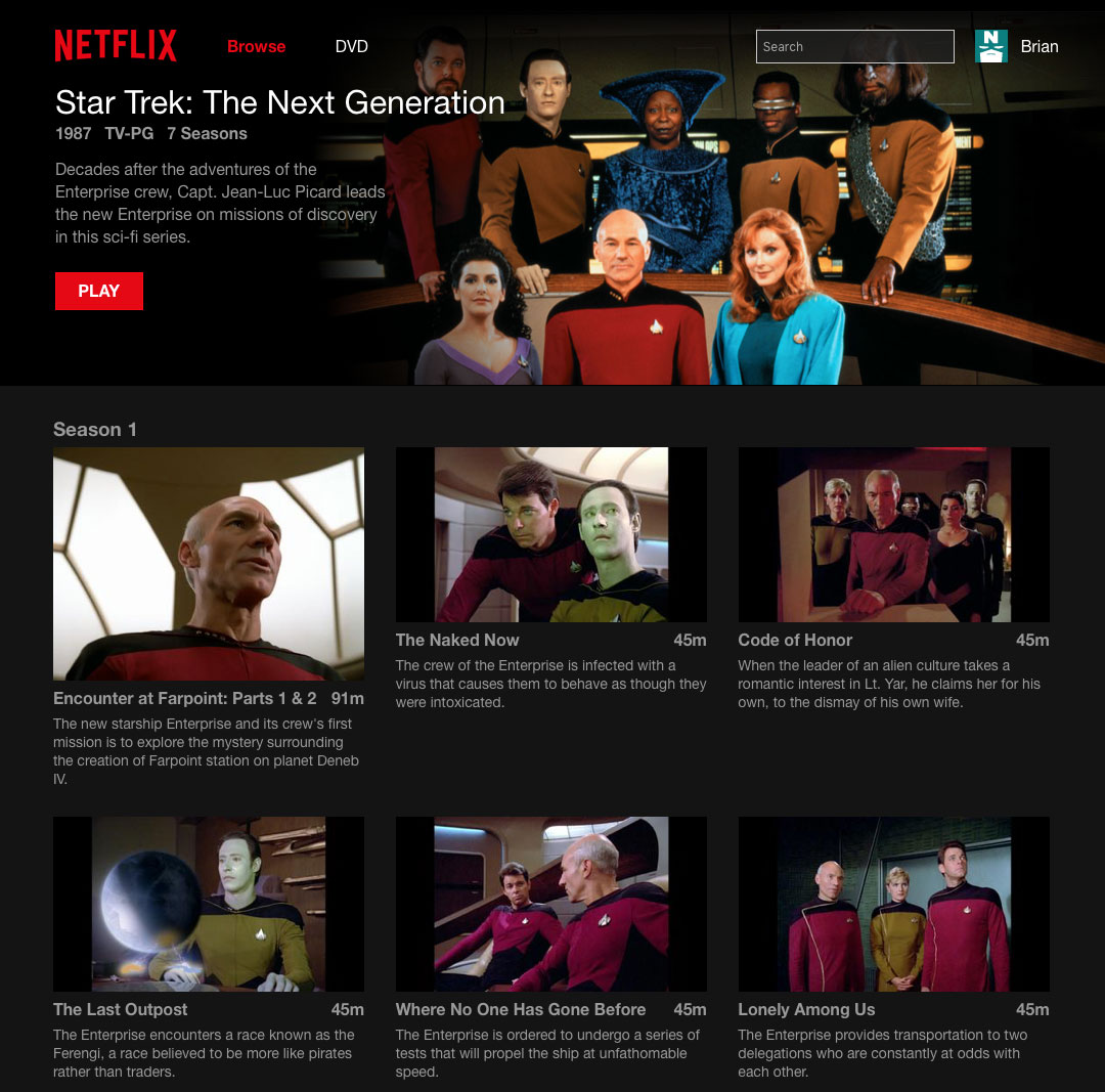 TNG in HD on Netflix