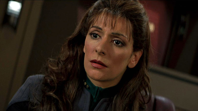 Marina Sirtis as Commander Deanna Troi