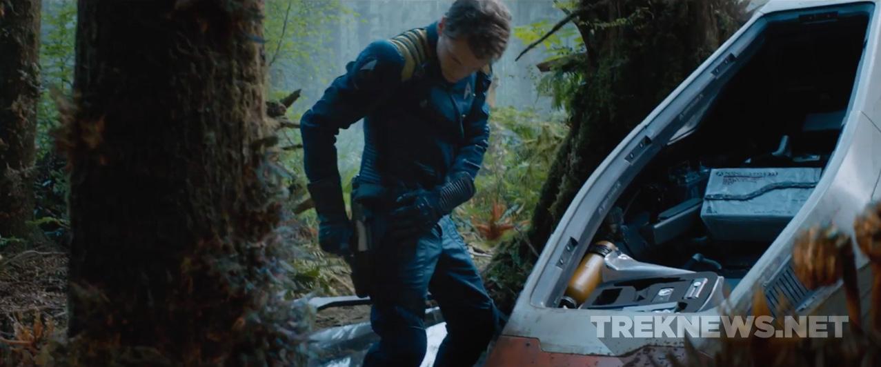 Kirk lands on an alien planet