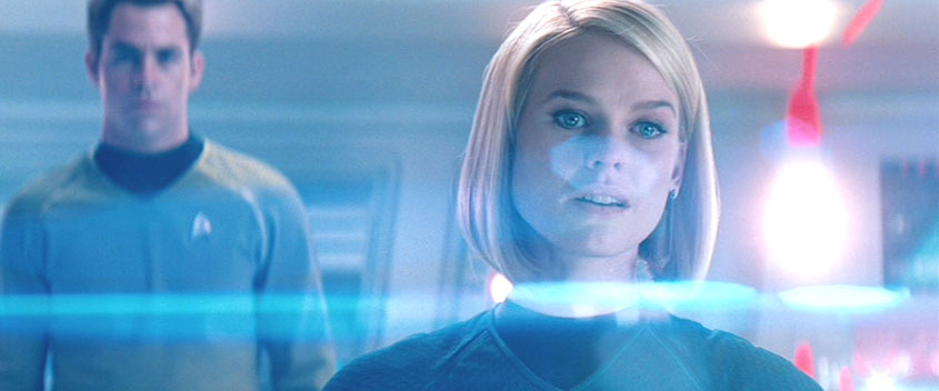 An example of Abrams' use of lens flare in Star Trek Into Darkness
