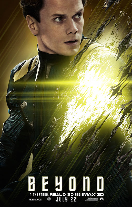 STAR TREK BEYOND poster with Anton Yelchin as Chekov