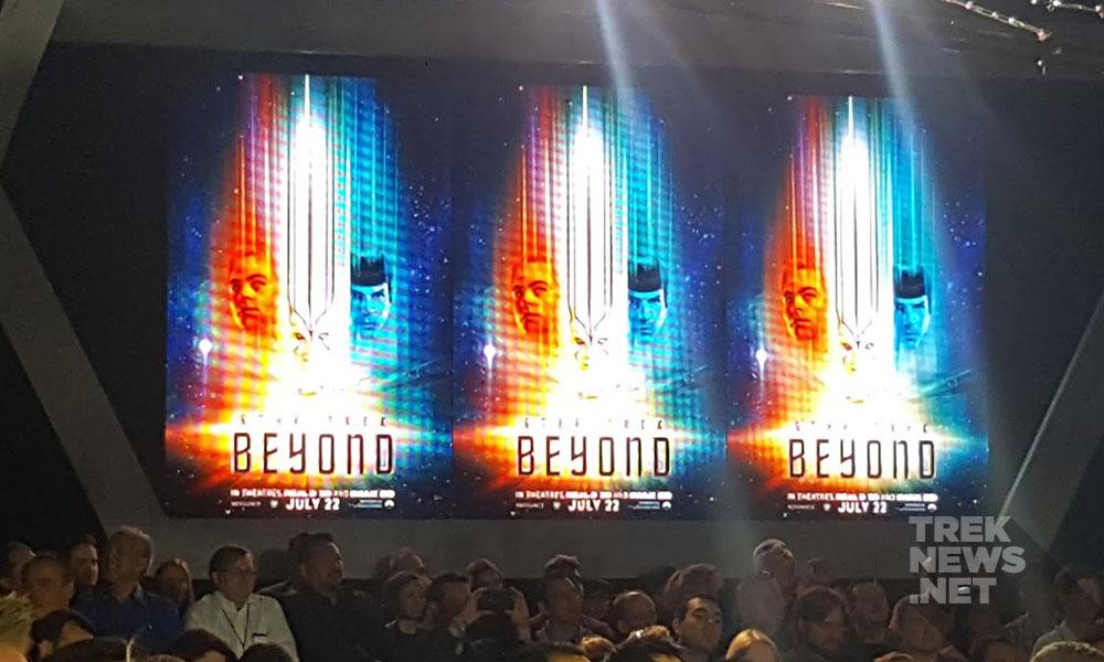 The new Star Trek Beyond poster is unveiled (photo: Anna Yeutter/TrekNews.net)