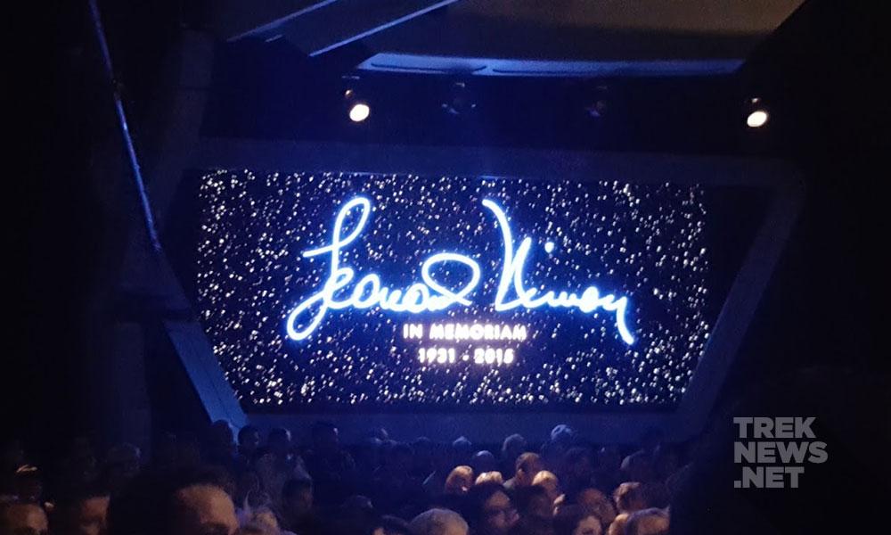 Video tribute to Leonard Nimoy (photo: Anna Yeutter/TrekNews.net)