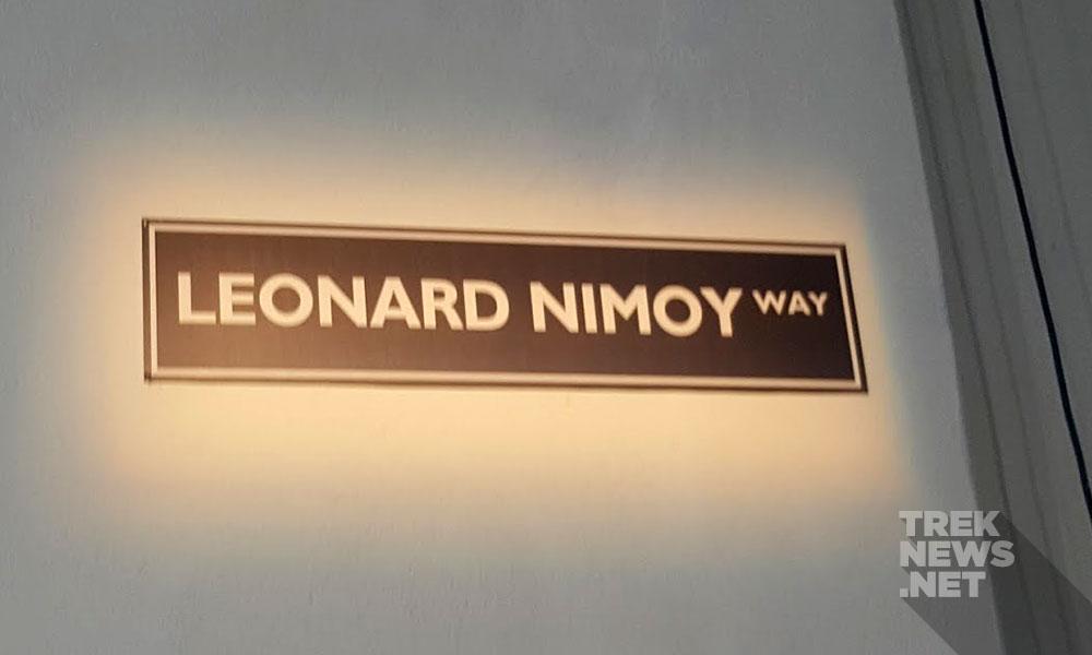 Leonard Nimoy Way, inside the Paramount back lot (photo: Anna Yeutter/TrekNews.net)
