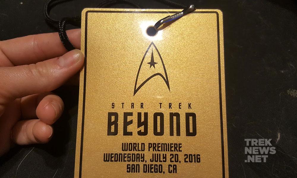 The golden ticket to the premiere of Star Trek Beyond in San Diego on July 20 (photo: Anna Yeutter/TrekNews.net)