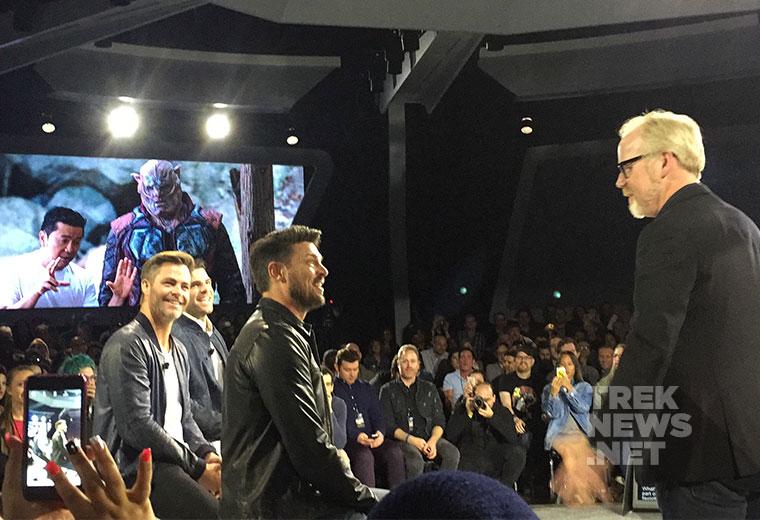 Karl Urban, Chris Pine & Zachary Quinto (photo: Marcus LaCroix/TrekNews.net)